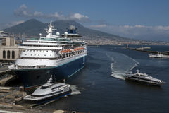 The Port of Naples, Italy Stock Image