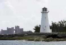 Port Nassau latarnia morska obraz stock