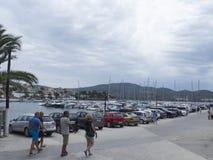 The port in Neos Marmaras village, Sithonia, Greece Royalty Free Stock Photos
