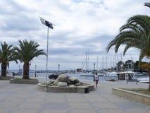 The port in Neos Marmaras village, Sithonia, Greece Stock Photo