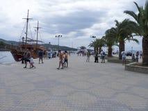 The port in Neos Marmaras village, Sithonia, Greece Stock Image