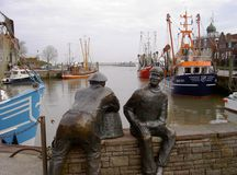 Port of Neuharlingersiel Stock Image