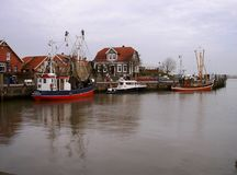 Port of Neuharlingersiel Stock Photography