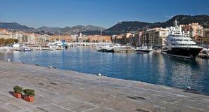 Port of Nice. Panorama. Cote Azure, France Royalty Free Stock Image