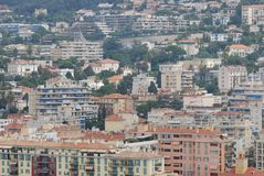 Port of Nice, city, urban area, cityscape, metropolitan area. Port of Nice is city, metropolitan area and town. That marvel has urban area, residential area and royalty free stock image