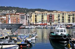 Port of Nice in France Stock Images