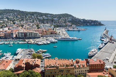 The port of Nice in France Royalty Free Stock Photography