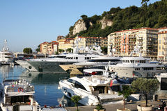 Port of Nice France. Port of Nice on the French Riviera showing boats in the port Royalty Free Stock Photos