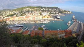 Port of Nice, French Riviera stock footage