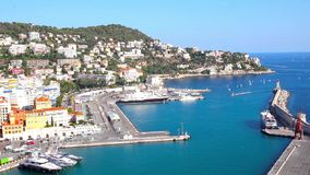 Port of Nice, French Riviera stock video
