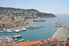 Port of Nice, French Riviera Stock Photo