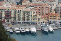 Port of Nice, marina, harbor, waterway, water transportation. Port of Nice is marina, water transportation and port. That marvel has harbor, city and water and stock photo