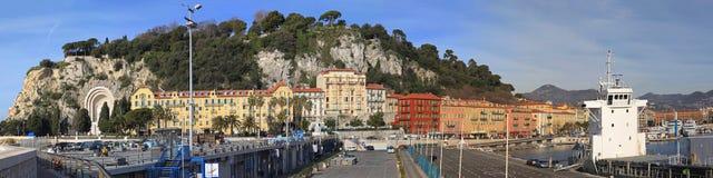 Port of Nice Panorama Stock Image