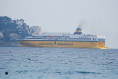 Port of Nice, passenger ship, water transportation, ship, ferry. Port of Nice is passenger ship, ferry and motor ship. That marvel has water transportation stock photos