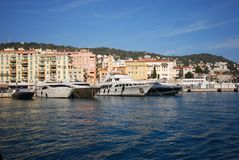 Port of Nice, Promenade des Anglais, marina, waterway, water transportation, harbor. Port of Nice, Promenade des Anglais is marina, harbor and water. That marvel stock photos