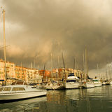 Port of Nice after the storm stock photography