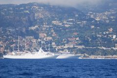 Port of Nice, Villefranche-sur-Mer, water transportation, sea, ship, coastal and oceanic landforms royalty free stock images