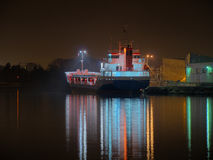 Port at night Royalty Free Stock Photo