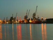 Port at night Stock Photo