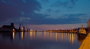 Port at night Royalty Free Stock Image
