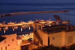 A Port in the night Stock Images