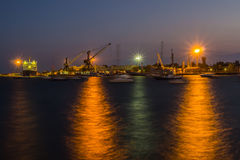 Port at night Stock Photos
