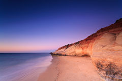 Port Noarlunga cliffs at twilight Stock Photography