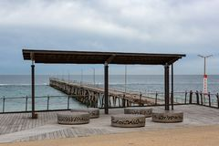 The Port Noarlunga foreshore and Jetty on the 23rd August 2018 i. N south Australia royalty free stock image