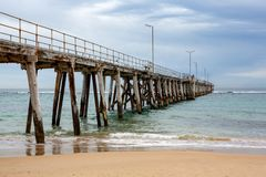 The Port Noarlunga Jetty located in South Australia on the 23rd. August 2018 stock image
