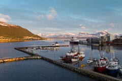 Port in northern Norway Stock Images