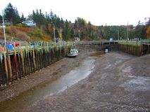 Port Nova Scotia du ` s de Hall à marée basse photo libre de droits