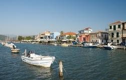 Port Nydri d'été de Leucade Grèce Image libre de droits