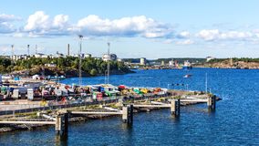 The Port of Nynashamn Royalty Free Stock Images