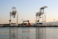 Port of Oakland Cranes Stock Image