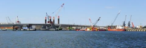 Port occupé à Adelaïde photo stock