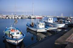 Port och fartyg Fotografering för Bildbyråer