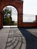 Port och staket av Christian Church Fotografering för Bildbyråer