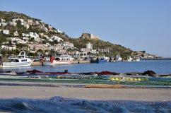 Port och town av ro i Spanien Royaltyfria Foton