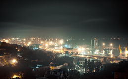 Port of Odessa. At night Royalty Free Stock Photo