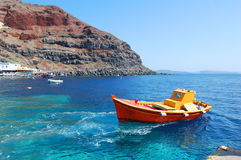 Port of Oia, Santorini island, Greece. Mediterranean Royalty Free Stock Images