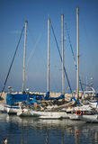Port of Old Jaffo. Yachts  in Port of Old Jaffo, Israel Stock Photos