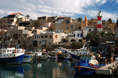 Port of Old Jaffo. Israel Stock Image