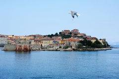 The port of old Portoferraio on Elba island. Italy Stock Photo