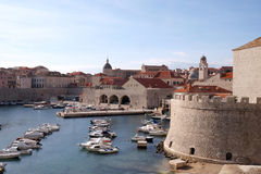 The port of the Old Town of Dubrovnik Stock Photography