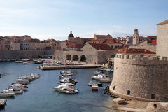 The port of the Old Town of Dubrovnik Royalty Free Stock Images