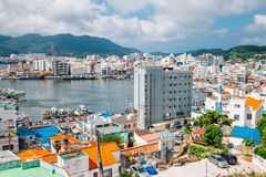 Port and old town in Tongyeong, Korea