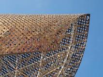Port olimpic barcelona. Art at port olimpic in Barcelona Royalty Free Stock Image
