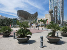 Port Olimpic, Barcelona Arkivfoto