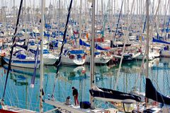 Port Olimpic, Barcelona, Spain Royalty Free Stock Image
