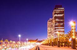 Port Olimpic - center of nightlife at Barcelona Royalty Free Stock Photography
